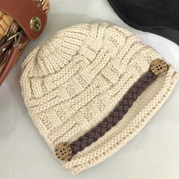 Accessories Beige Womens Crochet Stocking Cap Poshmark